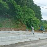 益田市美濃地 墓所造成工事 完 成 間 近 !