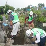 熊本市内墓地復興ボランティア