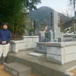 鹿足郡津和野町T家様の墓所改修工事 完工