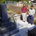 4月28日 津和野町/Y家様 墓所改修工事 完工!