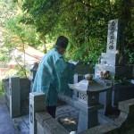 津和野町大定院内M家様累代墓石建立工事 その2