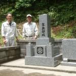 6月8日 益田市白上町/Y家様・累代墓石建立工事 完工