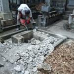7月31日 津和野町常光寺様墓地/Y家様・墓所解体整理工事(お墓終い)