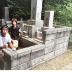 7月28日 三隅町/M家様 累代墓石建之工事!