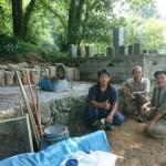 8月8日 吉賀町柿木村/O家様・累代墓石建立工事 その1・着工