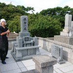 8月26日 津和野町・I家様竿石現場追加彫刻/ 益田市T家様墓石建之工事 完工!