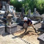8月3日津和野町/S家様 墓石建之工事 基礎!
