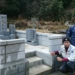 津和野町H家様墓所移設工事 おかげさまでやっと完 工 !!