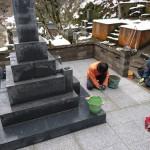 厳寒の中 F家様墓所改修工事 やっと 完 工 だ !