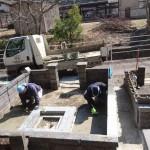 3月17日 津和野町光明寺墓地/N家様・墓所改修工事 完工!