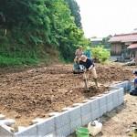 ロックの日の今日は益田市美濃地町墓所造成工事つ づ き………
