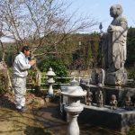 益田市美濃地町 墓所移設工事4件様基礎工事終了!
