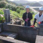 浜田市三隅町H家様墓所移設工事完工。