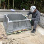 山口市徳佐にて愛媛県産大島石!で累代墓石を建てさせていただきました!