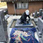 益田市の美濃地祖霊社墓地にて墓石の改修工事をさせていただきました!