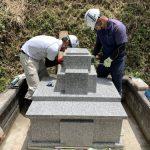 津和野町S寺にてE家様累代墓石建立工事無事 完 工 !