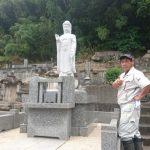 津和野町にてK寺様の合祀墓に阿弥陀様を建立させていただきました。