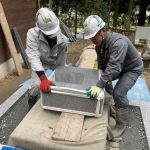 津和野町日原にてT家様の累代墓石を建立させてただきました!