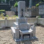 益田市内で墓石工事バッチリ完工。