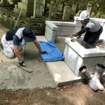 津和野町にて神道型の見事なお墓が建ちました!!