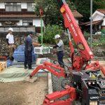 津和野にて愛媛県産「大島石」で墓石を建立しました!